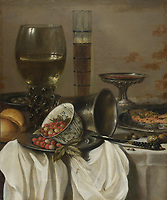 Full title: Still Life with Drinking Vessels<br /> Artist: Pieter Claesz.<br /> Date made: 1649