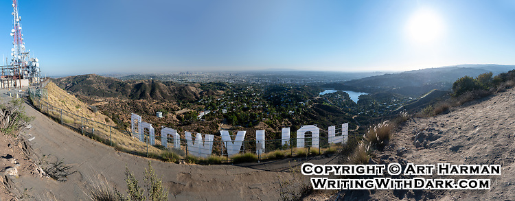 """""""Hollywood Sign Grand Panorama"""" by Art Harman. Shot from behind the world-famous sign, showing the entire Los Angeles area."""