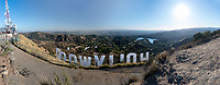 """Hollywood Sign Grand Panorama"" by Art Harman. Shot from behind the world-famous sign, showing the entire Los Angeles area."