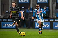 inter-napoli - milano 16 dicembre 2020 - Campionato Serie A 12° giornata - nella foto: barella e insigne