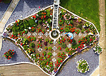 Garden on the island shaped like the Isle of Wight by Pete Box