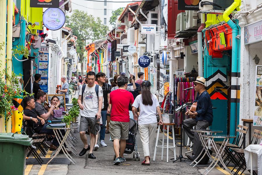 Haji Lane Street Scene, Kampong Glam, Singapore.