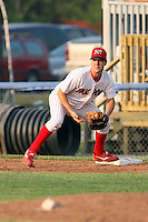 June 27th, 2007:  Steven Hill of the Batavia Muckdogs, Short-Season Class-A affiliate of the St. Louis Cardinals at Dwyer Stadium in Batavia, NY.  Photo by:  Mike Janes/Four Seam Images