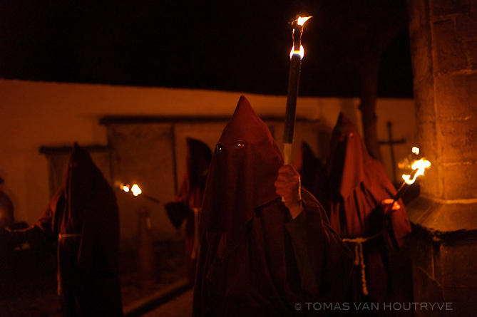 Hooded Catholics participate in a Good Friday procession in Lessines, Belgium on March 29, 2013. The procession has been taking place for more than 500 years.