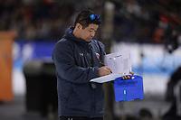 SCHAATSEN: HEERENVEEN: 07-03-2020, IJsstadion Thialf, ISU World Cup Final, Ryan Shimabukuro (coach USA), ©foto Martin de Jong