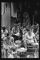 Local residents sit outside an antique shop in Shanghai, China, August, 2012. (Leica M6, 50mm f2, Kodak TRI-X 400)