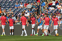 San Diego, CA - Sunday January 29, 2017: USMNT prior to an international friendly between the men's national teams of the United States (USA) and Serbia (SRB) at Qualcomm Stadium.