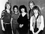 Heart 1983 Howard Leese,Danny Carmassi, Ann Wilson,Mark Andes, Nancy Wilson<br /> © Chris Walter