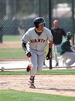 Ryder Jones - San Francisco Giants 2018 spring training (Bill Mitchell)