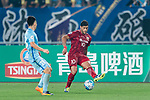 Shanghai FC Forward Givanildo Vieira De Sousa (Hulk) (R) in action against Jiangsu FC Midfielder Yang Xiaotian (L) during the AFC Champions League 2017 Round of 16 match between Jiangsu FC (CHN) vs Shanghai SIPG FC (CHN) at the Nanjing Olympic Stadium on 31 May 2017 in Nanjing, China. Photo by Marcio Rodrigo Machado / Power Sport Images