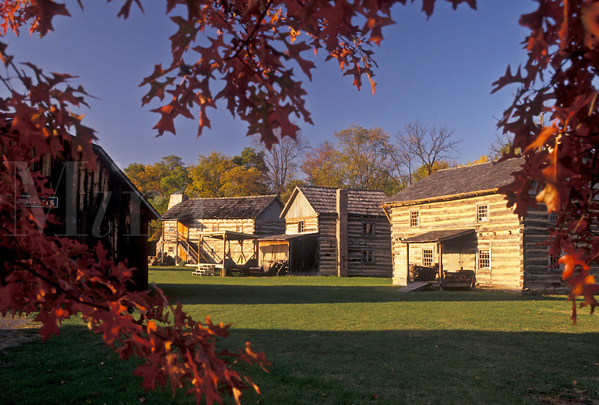AJ3184, Pennsylvania, Old Bedford Village (a 1750-1850 village reproduction) in Bedford in the state of Pennsylvania.