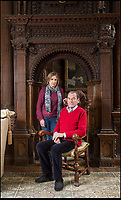 BNPS.co.uk (01202 558833)<br /> Pic: PhilYeomans/BNPS<br /> <br /> Capt Nigel Thimbleby with his wife Katharine in historic Wolfeton House.<br /> <br /> Countryside campaigners are today celebrating after defeating controversial plans to build a housing estate next to a historic manor that inspired Thomas Hardy.<br /> <br /> Developers had hoped to build 89 new homes in the vicinity of Wolfeton House, which is indelibly linked to Hardy's 1886 novel The Mayor of Casterbridge.<br /> <br /> But officials at Dorset Council have rejected their planning application, to the relief of objectors including Historic England and the Thomas Hardy Society, who argued Hardy's idyllic setting would be 'ruined' by the development.
