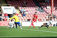 Tom James of Leyton Orient scores the second goal for his team during Leyton Orient vs Oldham Athletic, Sky Bet EFL League 2 Football at The Breyer Group Stadium on 11th September 2021
