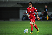 20190301 - LARNACA , CYPRUS : North Korean forward Wi Jong-sim pictured during a women's soccer game between South Africa and Korea DPR , on Friday 1 March 2019 at the AEK Arena in Larnaca , Cyprus . This is the second game in group A for Both teams during the Cyprus Womens Cup 2019 , a prestigious women soccer tournament as a preparation on the Uefa Women's Euro 2021 qualification duels. PHOTO SPORTPIX.BE   STIJN AUDOOREN