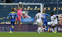 Joe Pigott of AFC Wimbledon header saved by Dejan Iliev of Shrewsbury Town during AFC Wimbledon vs Shrewsbury Town, Sky Bet EFL League 1 Football at The Kiyan Prince Foundation Stadium on 17th October 2020