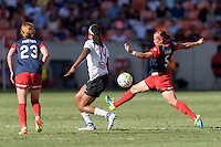 Houston, TX - Sunday Oct. 09, 2016: Jessica McDonald, Whitney Church during the National Women's Soccer League (NWSL) Championship match between the Washington Spirit and the Western New York Flash at BBVA Compass Stadium. The Western New York Flash win 3-2 on penalty kicks after playing to a 2-2 tie.