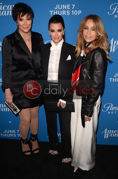 "Kris Jenner, Kyle Richards, Faye Resnick<br /> at the ""American Woman"" Premiere Party, Chateau Marmont, Los Angeles, CA 05-31-18<br /> David Edwards/DailyCeleb.com 818-249-4998"