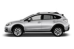 Car driver side profile view of a 2017 Subaru XV Premium 5 Door SUV