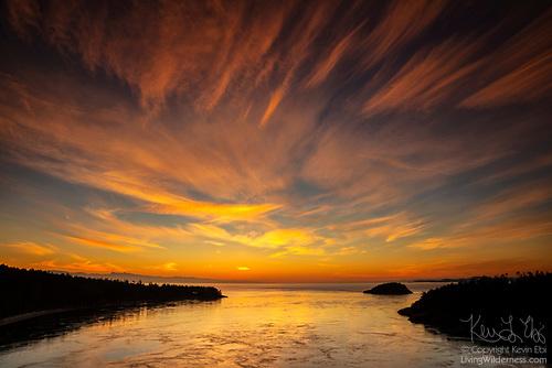 Sunset over Deception Pass, Washington