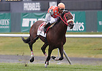 Mission Approved, Jose Espinoza up, wins the Grade I Woodford Reserve Manhattan Handicap on Belmont Stakes Day. Trainer is Naipaul Chatterpaul Belmont Park, Elmont, PA. June 10, 2011. (Joan Fairman Kanes/Eclipsesportswire)