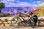 Cycling, South Rim, Grand Canyon National Park, Arizona, USA  Along the Rim Trail, south of Visitor Center and Mather Point.