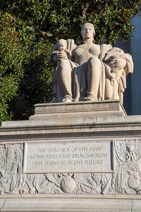 Heritage Statue, National Archives, Washington DC, USA. Sculptor James Earle Fraser.