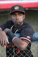 Wilson Soriano (5) of the Modesto Nuts before a game against the High Desert Mavericks at Heritage Field on June 3, 2016 in Adelanto, California. Modesto defeated High Desert, 2-1. (Larry Goren/Four Seam Images)