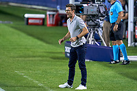 CHICAGO, UNITED STATES - AUGUST 25: Raphael Wicky head coach of Chicago reacts to a play during a game between FC Cincinnati and Chicago Fire at Soldier Field on August 25, 2020 in Chicago, Illinois.