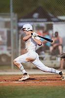 Cal Hejza (8) during the WWBA World Championship at the Roger Dean Complex on October 13, 2019 in Jupiter, Florida.  Cal Hejza attends Oswego High School in Oswego, IL and is committed to Illinois.  (Mike Janes/Four Seam Images)