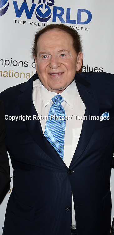 Sheldon Adelson and  Dr Miriam Adelson attend the 2nd Annual Champions of Jewish Values International Awards Gala on May 18, 2014 at Ciprianis 42nd Street in New York City, New York, USA.