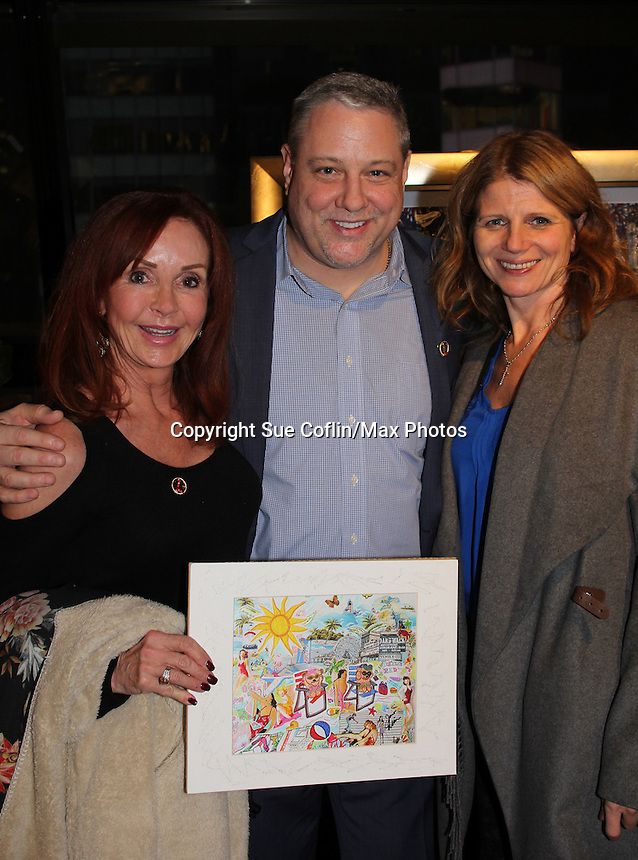 "General Hospital Jacklyn Zeman ""Bobbie Spencer"" poses with Bill and Maureen Nussbaum who were honored with the Heart of Gold Award. Jackie is honorary chair of The 29th Annual Jane Elissa Extravaganza which benefits The Jane Elissa Charitable Fund for Leukemia & Lymphoma Cancer, Broadway Cares and other charities on November 14, 2016 at the New York Marriott Hotel, New York City presented by Bridgehampton National Bank and Walgreens.  (Photo by Sue Coflin/Max Photos)"