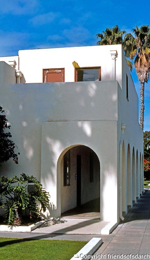 Irving Gill: Oceanside Fire House, detail. (Photo '86)