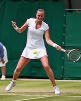 01-07-13, England, London,  AELTC, Wimbledon, Tennis, Wimbledon 2013, Day seven, Petra Kvitova (CZE)<br /> <br /> <br /> <br /> Photo: Henk Koster