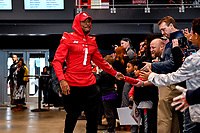 Washington, DC - Sunday JAN 26, 2020: DC Defenders wide receiver DeAndre Thompkins (1) is introduced to the fans at the DC Defenders open house at  Audi Field in Washington, DC. (Photo by Phil Peters/Media Images International)