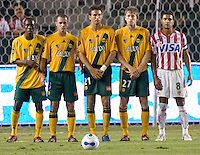 LA Galaxy Galaxy wall. Necaxa defeated LA Galaxy 1-0 in an International friendly match at The Home Depot Center in Carson, California, Wednesday July 12, 2006.