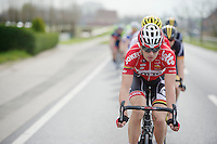 Frederik Willems (BEL/Lotto-Belisol) driving the peloton<br /> <br /> Gent-Wevelgem 2014