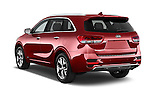 Car pictures of rear three quarter view of a 2016 KIA Sorento SXT 5 Door SUV angular rear