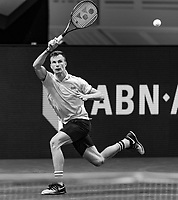 Rotterdam, The Netherlands, 6 march  2021, ABNAMRO World Tennis Tournament, Ahoy,  <br /> Semi final: Marton Fucsovics (HUN).  Photo: www.tennisimages.com/