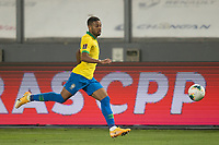 13th October 2020; National Stadium of Peru, Lima, Peru; FIFA World Cup 2022 qualifying; Peru versus Brazil;  Renan Lodi of Brazil chases a through ball