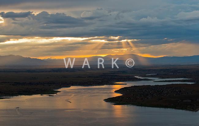 Sunset on Lake Pueblo. July 2014. 86183