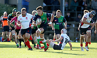 Saturday 26th September 2020 | Malone vs Ballynahinch<br /> <br /> Bradley Luney races clear for Ballynahinch during the Ulster Senior League fixture between Malone and Ballynahinch at Gibson Park, Belfast, Northern Ireland. Photo by John Dickson / Dicksondigital