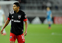 WASHINGTON, DC - MAY 13: Edison Flores #10 of D.C. United during a game between Chicago Fire FC and D.C. United at Audi FIeld on May 13, 2021 in Washington, DC.
