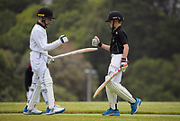 Action from the Wellington junior cricket year 8 match between Karori Dolphins and Wellington Collegians Comets at Ian Galloway Park in Wellington, New Zealand on Saturday, 5 December 2020. Photo: Charley Lintott / lintottphoto.co.nz