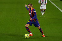 29th December 2020; Camp Nou, Barcelona, Catalonia, Spain; La Liga Football, Barcelona versus Eibar;  Mingueza FC Barcelona defender comes forward on the ball