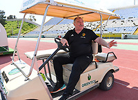 20190306 - LARNACA , CYPRUS :  Belgian teammanager Hubert De Neef pictured during a women's soccer game between  Austria and the Belgian Red Flames  , on wednesday 6 March 2019 at the GSZ  Stadium in Larnaca , Cyprus . This is the last game for both teams during the Cyprus Womens Cup 2019 which decides places 3 or 4, The Cyprus Women's cup is a prestigious women soccer tournament as a preparation on the Uefa Women's Euro 2021 qualification duels. PHOTO SPORTPIX.BE | DAVID CATRY
