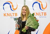 March 15, 2015, Netherlands, Rotterdam, TC Victoria, NOJK,  girls 18 years  runner up Nina Kruijer<br /> Photo: Tennisimages/Henk Koster