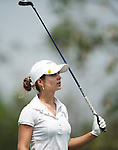 CHON BURI, THAILAND - FEBRUARY 16:  Beatriz Recari of Spain tees off on the 16th hole during day one of the LPGA Thailand at Siam Country Club on February 16, 2012 in Chon Buri, Thailand.  Photo by Victor Fraile / The Power of Sport Images