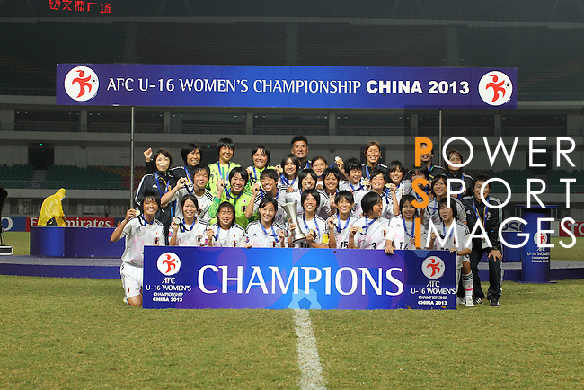 Japan vs North Korea during the 2013 AFC U-16 Women's Championship Final match on October 6, 2013 at the Jiangning Sports Centre in Nanjing, China. Photo by World Sport Group