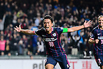 FC Kitchee Midfielder Ka Wai Lam (c) celebrates his score after heading the ball during the AFC Champions League 2017 Preliminary Stage match between  Kitchee SC (HKG) vs Hanoi FC (VIE) at the Hong Kong Stadium on 25 January 2017 in Hong Kong, Hong Kong. Photo by Marcio Rodrigo Machado/Power Sport Images