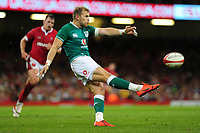 Will Addison of Ireland in action during the under armour summer series 2019 match between Wales and Ireland at the Principality Stadium, Cardiff, Wales, UK. Saturday 31st August 2019